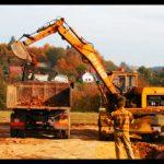 Zemné práce, výkopy pre stavbu rodinného domu